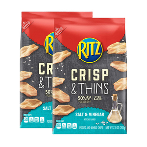 Nabisco Ritz Salt & Vinegar Crisp & Thins Chips 2 Pack (201g per Pack)